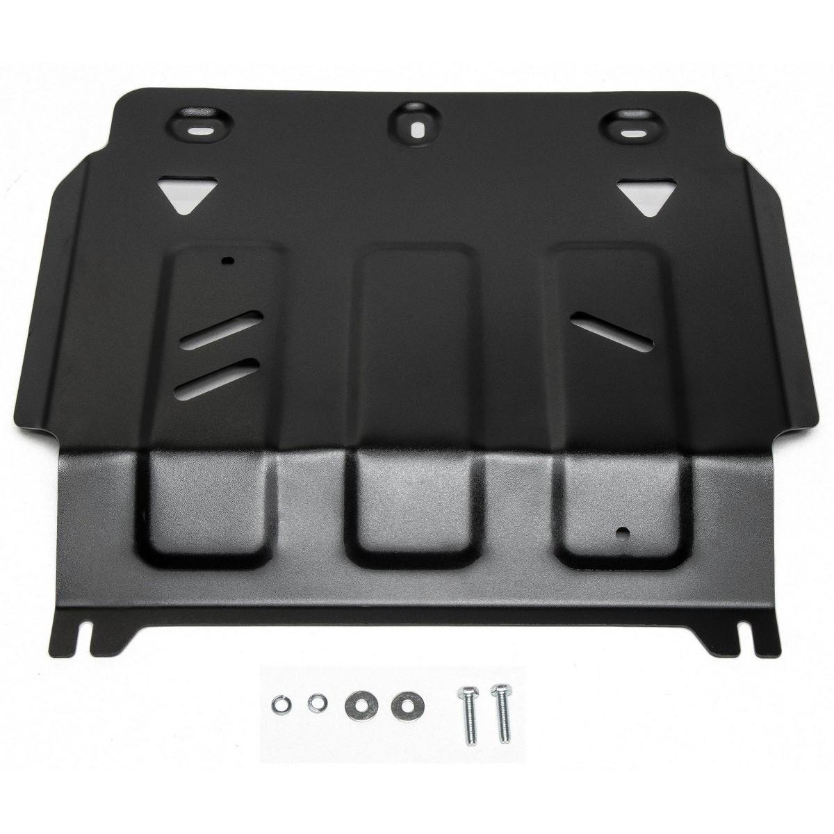 Купить Защита АвтоБРОНЯ для картера Fiat Fullback 2016- / Mitsubishi L200 2015- / Pajero Sport 2016-, сталь 2 мм, крепеж в комплекте. 111.04041.1, Автоброня