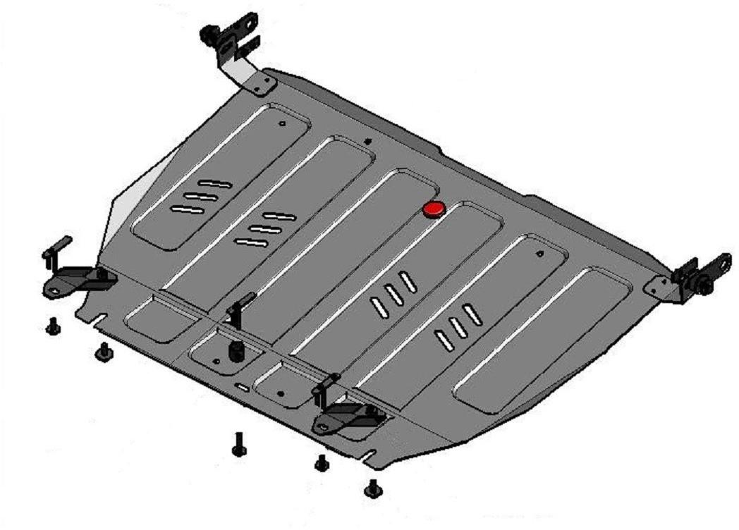 Купить Защита АвтоБРОНЯ для картера и КПП Nissan Maxima АКПП 2000-2005, сталь 2 мм, крепеж в комплекте. 111.04168.1, Автоброня