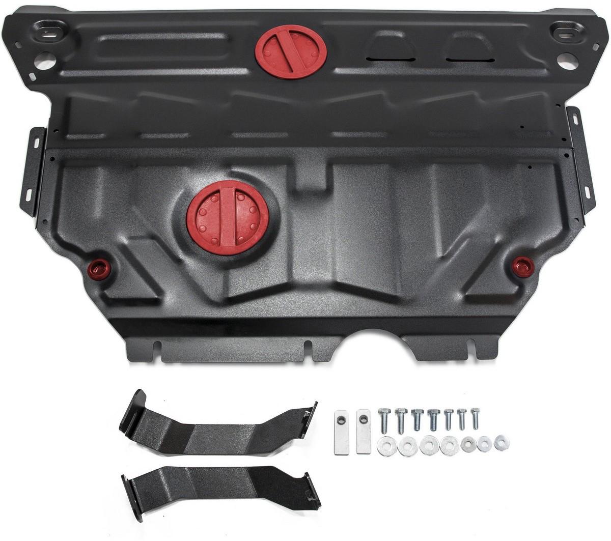 Защита картера и КПП Автоброня Skoda Octavia A7 2013-, сталь 2 мм111.05114.1Защита картера и КПП Автоброня Skoda Octavia A7, V - 1,4TFSI; 1,8TSI; 1,6MPI; 2,0TDI 2013-, сталь 2 мм, комплект крепежа, 111.05114.1Стальные защиты Автоброня надежно защищают ваш автомобиль от повреждений при наезде на бордюры, выступающие канализационные люки, кромки поврежденного асфальта или при ремонте дорог, не говоря уже о загородных дорогах. - Имеют оптимальное соотношение цена-качество. - Спроектированы с учетом особенностей автомобиля, что делает установку удобной. - Защита устанавливается в штатные места кузова автомобиля. - Является надежной защитой для важных элементов на протяжении долгих лет. - Глубокий штамп дополнительно усиливает конструкцию защиты. - Подштамповка в местах крепления защищает крепеж от срезания. - Технологические отверстия там, где они необходимы для смены масла и слива воды, оборудованные заглушками, закрепленными на защите. Толщина стали 2 мм. В комплекте крепеж и инструкция по установке.Уважаемые клиенты! Обращаем ваше внимание на тот факт, что защита имеет форму, соответствующую модели данного автомобиля. Наличие глубокого штампа и лючков для смены фильтров/масла предусмотрено не на всех защитах. Фото служит для визуального восприятия товара.
