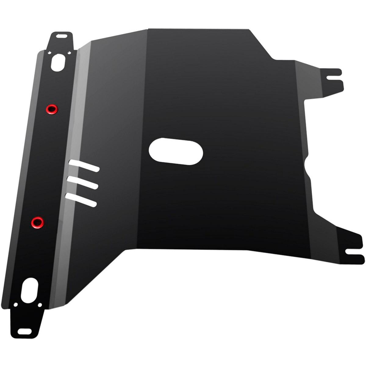 Защита картера и КПП Автоброня Chevrolet Lanos 2005-/ZAZ Chance 2005-, сталь 2 мм111.06501.1Защита картера и КПП Автоброня для Chevrolet Lanos, МКПП, V - 1,3; 1,4; 1,5 2005-/ZAZ Chance V - 1,3; 1,4; 1,5 2005-, сталь 2 мм, комплект крепежа, 111.06501.1Стальные защиты Автоброня надежно защищают ваш автомобиль от повреждений при наезде на бордюры, выступающие канализационные люки, кромки поврежденного асфальта или при ремонте дорог, не говоря уже о загородных дорогах. - Имеют оптимальное соотношение цена-качество. - Спроектированы с учетом особенностей автомобиля, что делает установку удобной. - Защита устанавливается в штатные места кузова автомобиля. - Является надежной защитой для важных элементов на протяжении долгих лет. - Глубокий штамп дополнительно усиливает конструкцию защиты. - Подштамповка в местах крепления защищает крепеж от срезания. - Технологические отверстия там, где они необходимы для смены масла и слива воды, оборудованные заглушками, закрепленными на защите. Толщина стали 2 мм. В комплекте крепеж и инструкция по установке.Уважаемые клиенты! Обращаем ваше внимание на тот факт, что защита имеет форму, соответствующую модели данного автомобиля. Наличие глубокого штампа и лючков для смены фильтров/масла предусмотрено не на всех защитах. Фото служит для визуального восприятия товара.