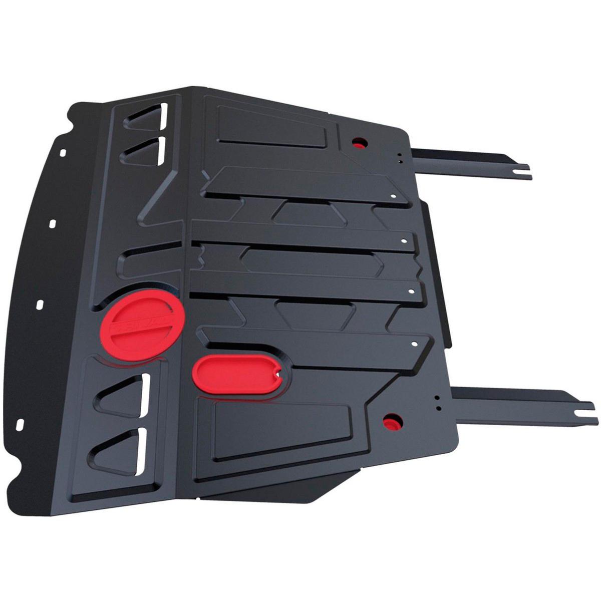 Защита картера и КПП Автоброня FAW V5 2012-, сталь 2 мм111.08006.1Защита картера и КПП Автоброня FAW V5 МКПП, V-1,5 2012-, сталь 2 мм, комплект крепежа, 111.08006.1Стальные защиты Автоброня надежно защищают ваш автомобиль от повреждений при наезде на бордюры, выступающие канализационные люки, кромки поврежденного асфальта или при ремонте дорог, не говоря уже о загородных дорогах. - Имеют оптимальное соотношение цена-качество. - Спроектированы с учетом особенностей автомобиля, что делает установку удобной. - Защита устанавливается в штатные места кузова автомобиля. - Является надежной защитой для важных элементов на протяжении долгих лет. - Глубокий штамп дополнительно усиливает конструкцию защиты. - Подштамповка в местах крепления защищает крепеж от срезания. - Технологические отверстия там, где они необходимы для смены масла и слива воды, оборудованные заглушками, закрепленными на защите. Толщина стали 2 мм. В комплекте крепеж и инструкция по установке.Уважаемые клиенты! Обращаем ваше внимание на тот факт, что защита имеет форму, соответствующую модели данного автомобиля. Наличие глубокого штампа и лючков для смены фильтров/масла предусмотрено не на всех защитах. Фото служит для визуального восприятия товара.