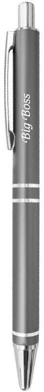 Be happy Ручка шариковая Big boss цвет корпуса графит цвет чернил синийEP021Шариковая ручка Big boss с вдохновляющей нежной надписью, в элегантной подарочной упаковке и универсальном цвете - это прекрасный недорогой подарок, который не только станет приятным знаком внимания и теплых чувств, но и всегда пригодится. Шариковая ручка Elegant pen станет отличным презентом на любой праздник и, когда просто хочется сделать приятно своим близким.