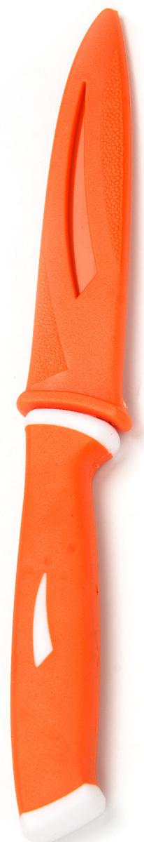 Нож Mayer&Boch с лезвием из высококачественной нержавеющей стали станет незаменимым помощником на вашей кухне. Лезвие имеет специальное Non-Stick покрытие, предотвращающее прилипание продуктов к лезвию ножа. Поверхность клинка легко моется, не впитывает и не «передает» запахи пищи при нарезке различных продуктов. Благодаря своей форме и компактному размеру, нож идеально подходит для очистки различных овощей и фруктов. Эргономичная рукоятка ножа удобно ложится в ладонь, обеспечивая безопасную работу, комфортное положение в руке, надежный захват и не дает ножу скользить при использовании. Нож имеет полипропиленовый чехол, обеспечивающий безопасность при хранении.