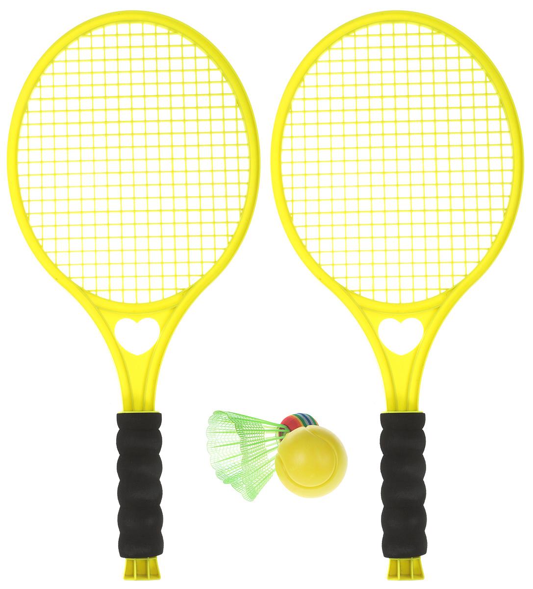 Concord Toys Игровой набор 2 в 1 Бадминтон и тенис цвет желтый
