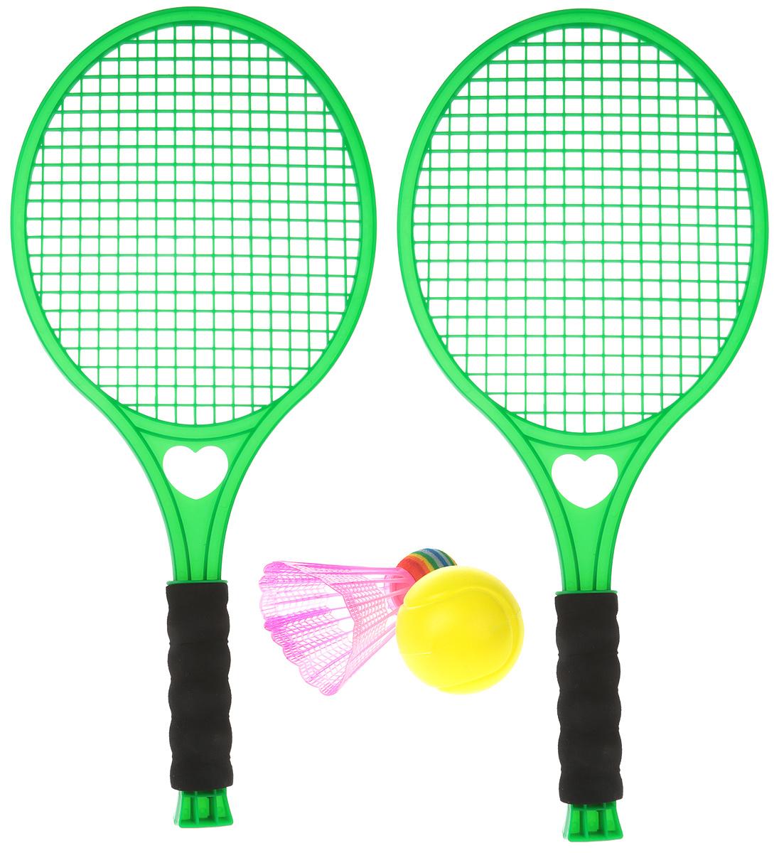 Concord Toys Игровой набор 2 в 1 Бадминтон и тенис цвет зеленый