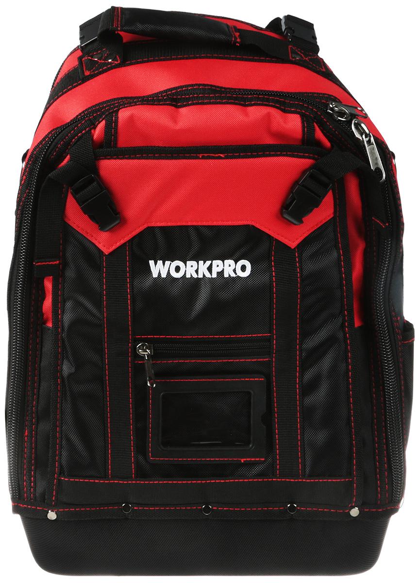 Рюкзак для инструментов Workpro, с ножом и стриппером, 34 х 20 х 43 смW081065CH;W081065CHМатериал рюкзака – баллистический нейлон плотностью 1680 D (используется для военного снаряжения) - плотный износостойкий водоотталкивающий. Водонепроницаемое дно рюкзака из ЭВА пластика –экологически чистый высокоэффективный вспененный каучук (используется для изготовления ортопедической и спортивной обуви). Высокая износостойкость, легкость, амортизация, стойкость к воздействию химических веществ грибков бактерий. Сохраняет свои свойства при низких температурах. Конструкция рюкзака имеет 3 отделения - 37 карманов: Металлический зацеп для рулетки. Закрывающийся карман на лямке рюкзака. Передний отсек для кабеля с возможностью регулировки по объему на замках-защелках.Широкий средний отсек на молнии для ручного и электрического инструмента имеет 22 кармана внутри, 2 из которых на молнии. Задний защитный отсек для 15-ти дюймового ноутбука и бизнес- принадлежностей. Мягкая спинка и мягкие усиленные лямки с нагрудным ремнем для комфортного ношения груженого рюкзака. Рекомендованная нагрузка до 65 кг. Клещи для снятия изоляции, резки обжима проводов WORKPRO. Длина инструмента 200 мм. Изготовлен из кованной закаленной инструментальной стали. Рукоятки выполнены из прорезиненного, противоскользящего двухкомпонентного материала. Возможная работа с проводами сечением жил от 0,75 до 6 мм. Универсальный алюминиевый выдвижной нож, с 3 запасными лезвиями, WORKPRO.Он выполнен из алюминиевого сплава. Оснащен выдвижным лезвием для безопасного использования. Выдвижное лезвие может фиксироваться в 3 положениях. Поставляется в комплекте с 3 запасными лезвиями. Длина ножа 145мм. Вес ножа 120 гр.