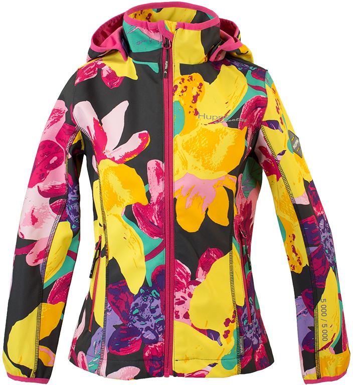 Куртка для девочки Huppa Janet, цвет: темно-серый, желтый. 18000000-81418. Размер 11618000000-81418Полуприталенная демисезонная куртка Janet из высокотехнологичной ткани Softshell. Трехслойная ткань (полиэстер, мембрана, флис) водо- и ветронепроницама. Мягкий внутренний слой из флиса создает комфортные ощущения, впитывает и отводит влагу от тела. Отстегивающийся капюшон довольно плотно прилегает к лицу благодаря резинке, проложенной по краю. Рельефные швы способствуют идеальной посадке по фигуре. Вертикальные карманы оформлены молниями контрастного цвета. Рукава и воротник-стойка отделаны контрастным кантом. Светоотражающие принты предназначены для безопасности вашего ребенка.