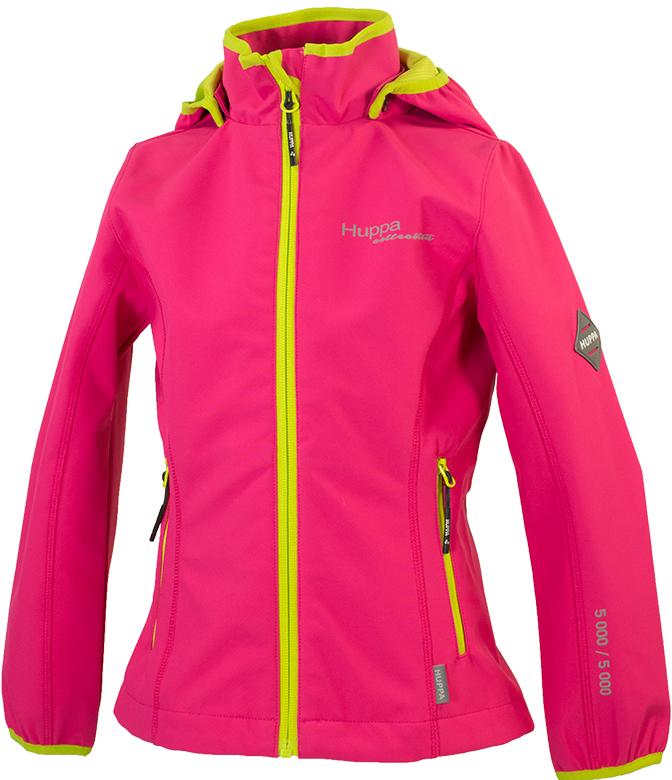 Куртка для девочки Huppa Janet, цвет: фуксия. 18000000-00163. Размер 12818000000-00163Softshell жакет JANET. Водо и воздухонепроницаемость 5 000. Состав: Ткань 3-х слойная ткань, 100% полиэстер, мембрана, флис 100% полиэстер. Отличительные особенности: Карманы на молнии, Отстегивающийся капюшон, Капюшон с резинкой, Манжеты рукавов с резинкой. Присутствуют светоотражательные детали.