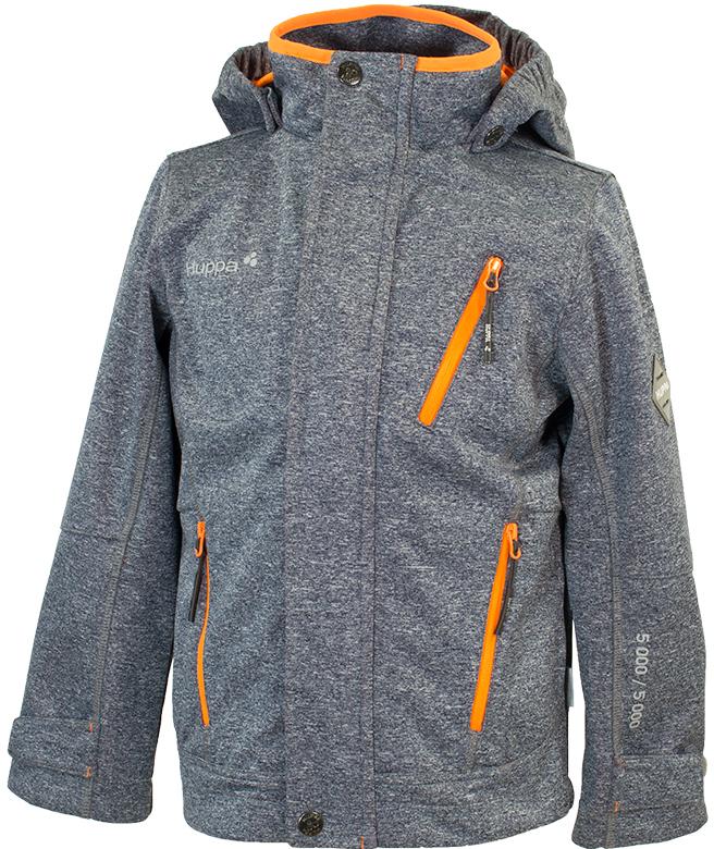 Куртка для мальчика Huppa Jamie, цвет: темно-серый. 18010000-00118. Размер 13418010000-00118Softshell жакет JAMIE. Водо и воздухонепроницаемость 5 000. Состав: Ткань 3-х слойная ткань, 100% полиэстер, мембрана, флис 100% полиэстер. Отличительные особенности: Карманы на молнии, Отстегивающийся капюшон, Капюшон с резинкой, Регулируемые манжеты. Присутствуют светоотражательные детали.