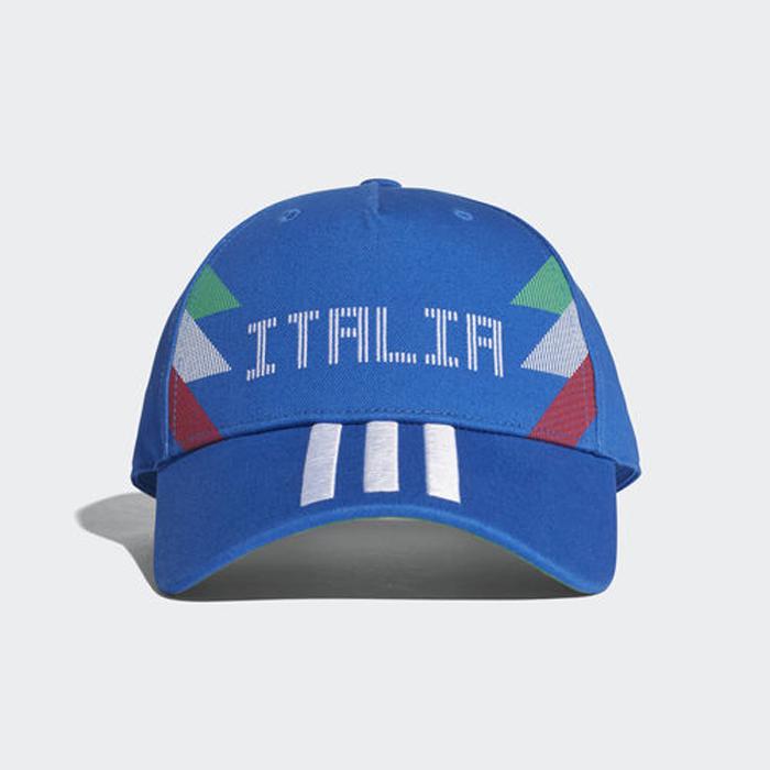 Бейсболка Adidas CF CAP ITA, цвет: синий. CF5190. Размер 60/62CF5190Бейсболка от adidas болельщика сборной Италии, выпущенная специально к Чемпионату Мира в России 2018.