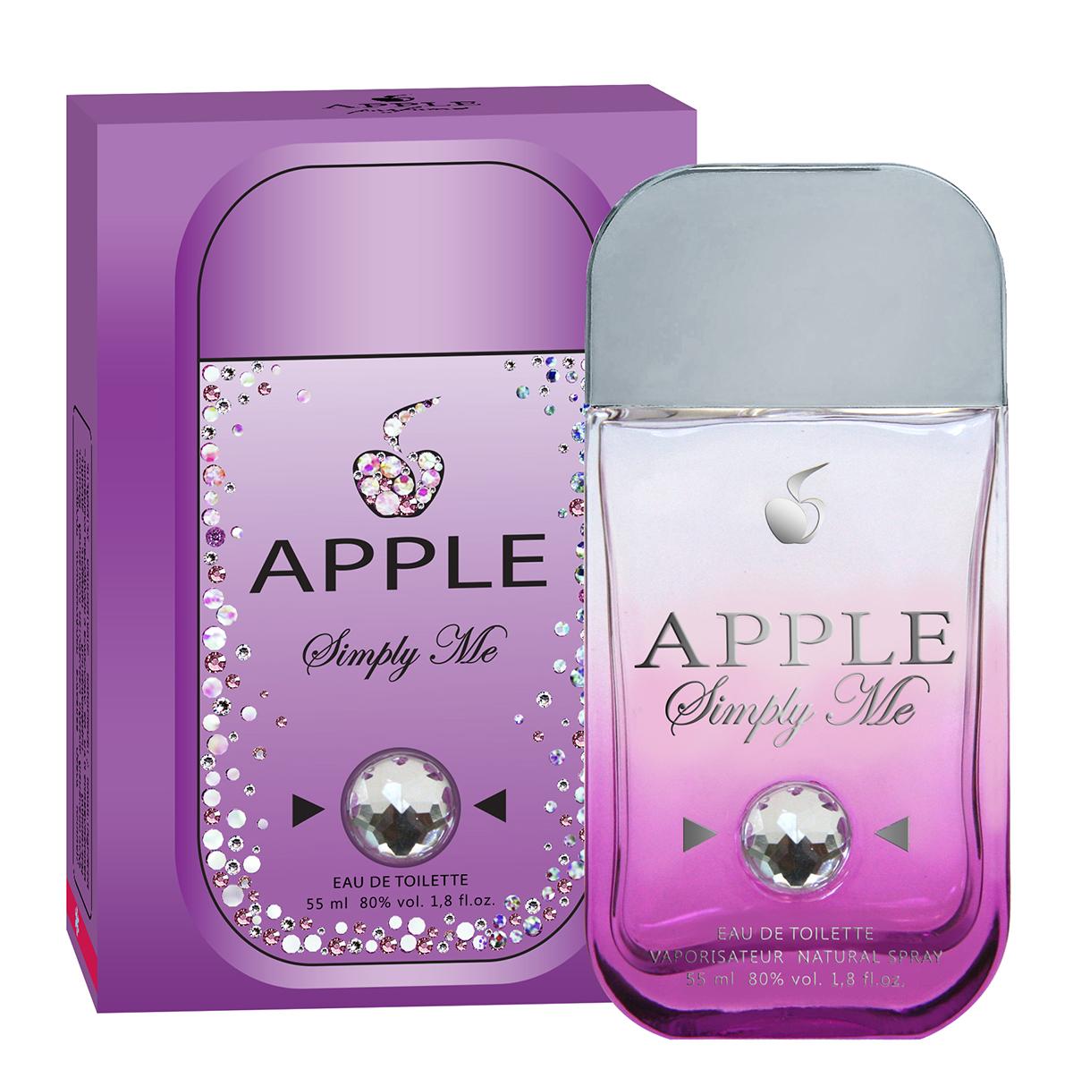 Apple Parfums Туалетная вода Apple Simply Me, 55 мл43312Apple Parfums. В 2008 году компания Юнитоп начала выпускать парфюмерию под брендом Apple parfums. Туалетные воды и духи производятся в России с привлечением европейских парфюмеров, при этом по цене и качеству не отстают от импортных аналогов. На сегодняшний день Apple Parfums – это два десятка оригинальных парфюмерных линеек. Ароматы Apple созданы для современных творческих людей, не мыслящих жизни без прогресса и движения. Их неуемная энергия, желание всегда быть в тренде и мобильность требовали принципиально новой парфюмерии, отличающиеся яркими, неординарными ароматами, а их упаковка и флаконы стилизованы под смартфон! Красочное, стойкое звучание Apple заметят коллеги и близкие, настроит на позитивную волну, парфюм прекрасно подойдет для ежедневного использования. Гамма древесных, цитрусовых и цветочных ароматов Apple – замечательный подарок молодым и энергичным людям, открытых всему новому! Цветочный, фруктовый аромат Simply Me дарит неповторимое чувственное сочетание, отражающее всю многогранность характера стильной, современной женщины. Композиция туалетной воды открывается нотами пиона и цветов персика. Сердце представлено роскошным сочетанием зеленой сирени, чайного листа и петигрейна. В заключение аромат звучит красивым шлейфом, сотканным из нот амбры, мускуса и кедра. Направление аромата: цветочный, фруктовый. Начальные ноты: пион, цветы персика. Ноты сердца: зеленая сирень, лист чая, петигрейн. Базовые ноты: амбра, мускус, кедр.