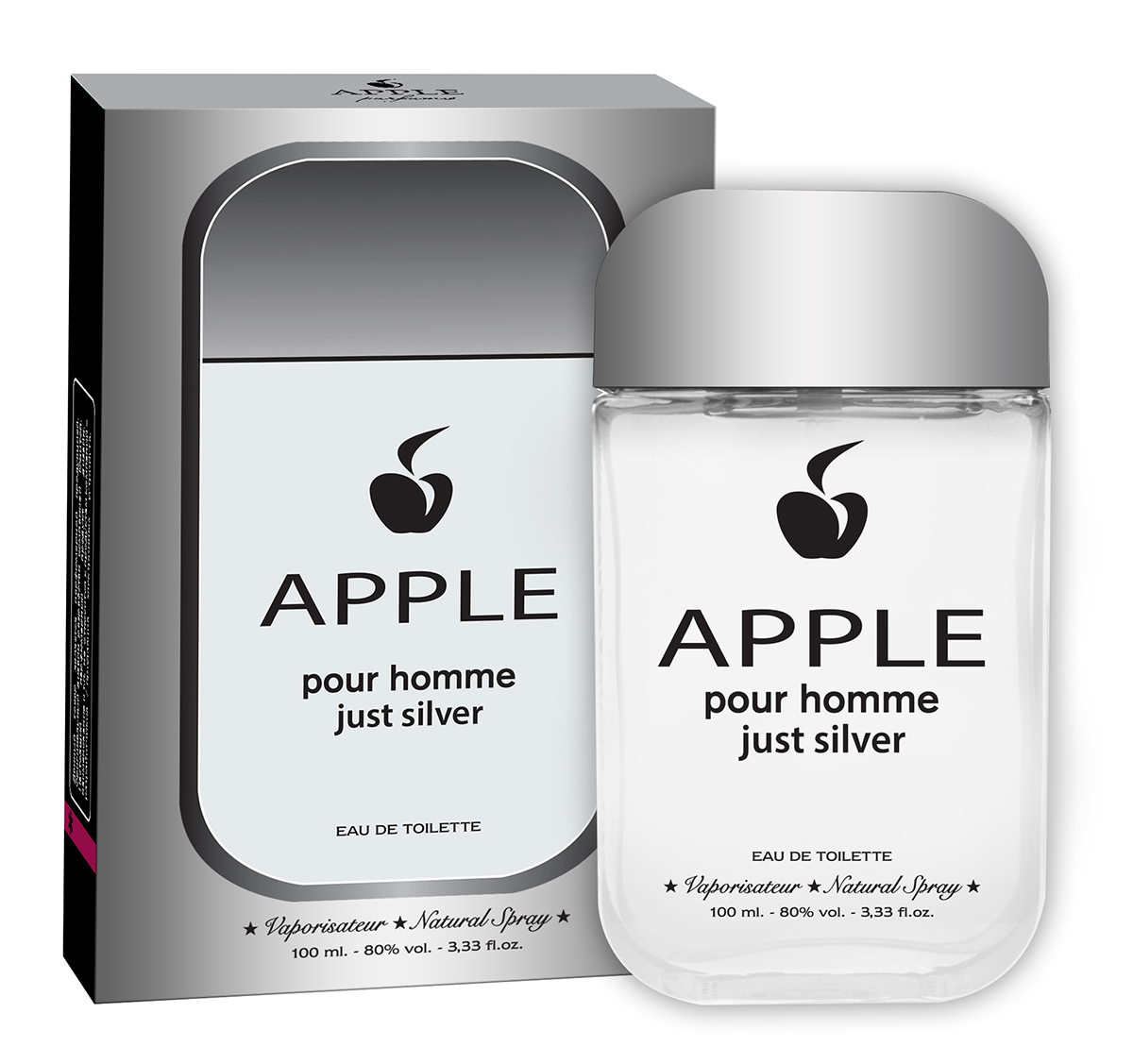 Apple Parfums Туалетная вода Apple Homme Just Silver, 100 мл туалетная вода apple parfums эппл пур хомме джаст силвер apple homme just silver