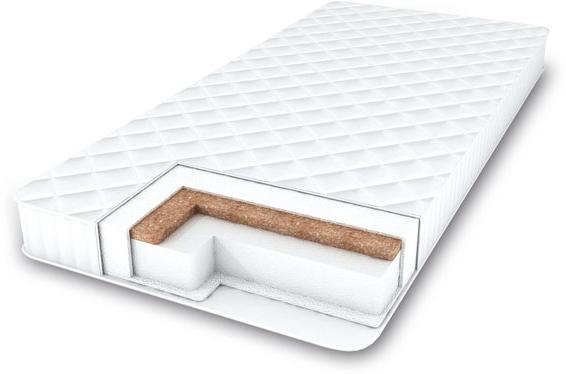Amarobaby Матрас детский Comfort Classic двусторонний цвет белый 120 х 60 х 7 смComfort ClassicХоллкон - не вызывает аллергии, не впитывает влаги и запахов, не накапливает статическое напряжение. За ним легко ухаживать – холлкон можно чистить и стирать при температурах до 75°С. И он прекрасно держит тепло.Кокосовая койра – 100% натуральный материал, один из самых жестких, упругих и эластичных наполнителей, он идеально поддерживает позвоночник маленького ребенка во время сна. 2 стороны матраса обладают разной степенью жесткости, что позволяет адаптировать его под потребности ребенка используя обе его стороны. Высококачественный стеганый мягкий трикотаж (100% хлопок). Хорошо проводит воздух и влагу и быстро высыхает.сторона А- 10мм бикокос сторона Б- 60мм холлкон нетканный материал Аэрофайбер съемныи? чехол на молнии стеганыи? трикотаж (100% хлопок)