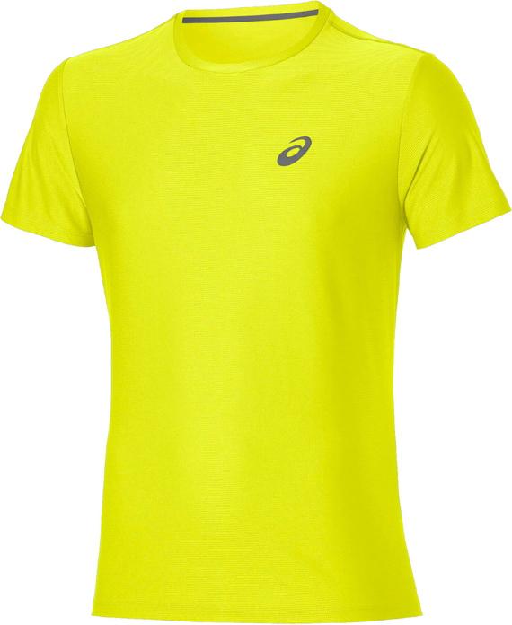 Футболка мужская Asics SS Top, цвет: желтый. 134084-0480. Размер S (44)134084-0480Стильная мужская футболка для бега Asics SS Top, выполненная из высококачественного полиэстера, обладает высокой воздухопроницаемостью и превосходно отводит влагу от тела, оставляя кожу сухой даже во время интенсивных тренировок. Такая футболка великолепно подойдет как для повседневной носки, так и для спортивных занятий.Модель с короткими рукавами и круглым вырезом горловины - идеальный вариант для создания модного современного образа. Футболка оформлена светоотражающим логотипом на груди и контрастной полоской на спинке. Такая футболка идеально подойдет для занятий спортом и бега. В ней вы всегда будете чувствовать себя уверенно и комфортно.