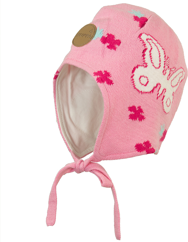 Шапка для девочки Huppa Silby, цвет: розовый. 83710000-70013. Размер XXS (39/41) брюки утепленные huppa huppa hu009egvuh82