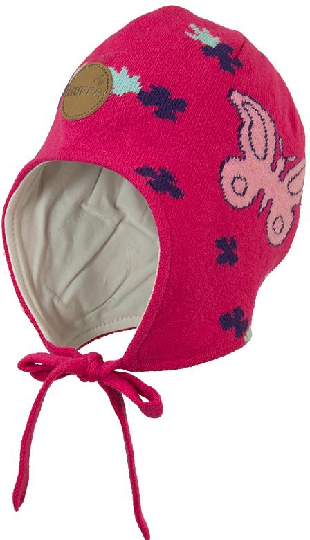 Шапка для девочки Huppa Silby, цвет: малиновый. 83710000-00063. Размер XS (43/45)83710000-00063Шапка для девочки Huppa Silby выполнена из высококачественной пряжи из хлопка с добавлением акрила. Подкладка изготовлена из натурального хлопка. Модель дополнена завязками и имеет утепленные вставки в области ушей. Шапка фиксируется при помощи завязок, оформлена оригинальным рисунком с изображением единорога.