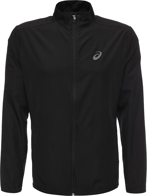 Ветровка мужская Asics Jacket, цвет: черный. 134091-0904. Размер XXL (52) куртка мужская asics softshell jacket цвет черный 146589 8154 размер xxl 56