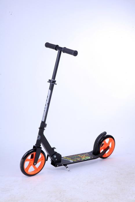 Самокат городской Buggy Boom, двухколесный, с регулируемой ручкой, цвет: оранжевый037KLJI-1Руль складывается и регулируется по высоте.