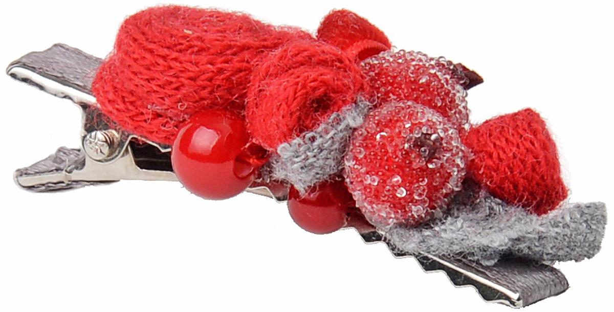 Заколка для волос Malina By Андерсен Клюква в сахаре, цвет: красный. 31603тб53 гребни bizon гребень диадема заколка
