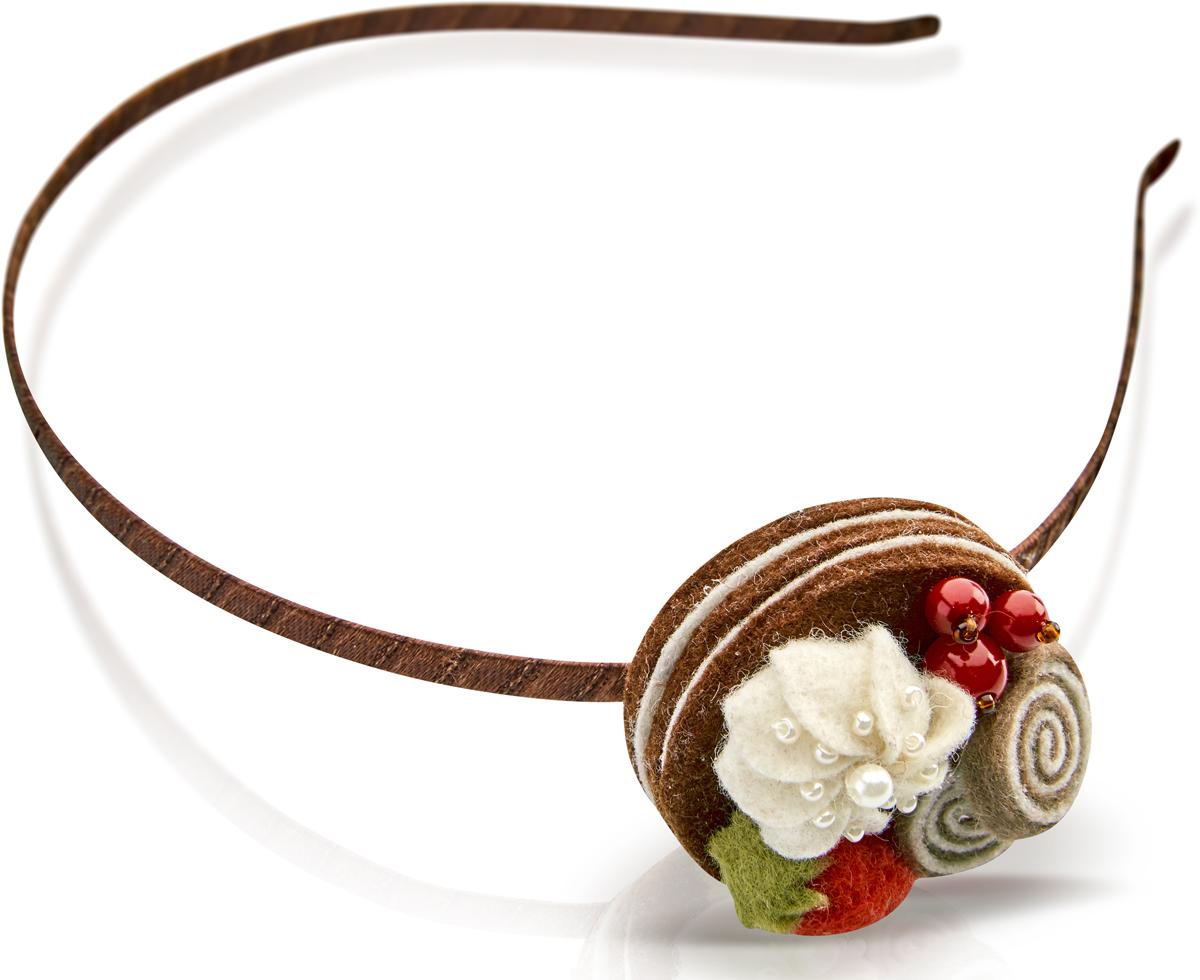 Ободок для волос Malina By Андерсен Медовый бисквит, цвет: коричневый. 31609об04 malina by андерсен ободок венок
