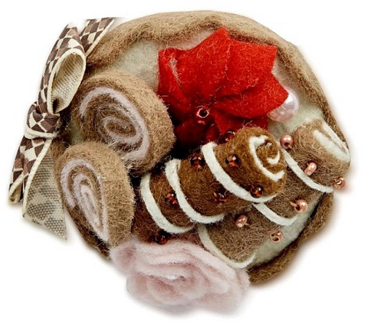 Заколка для волос Malina By Андерсен Кофейные трубочки, цвет: коричневый. 31610тб10 ez combs заколка изи комбс одинарная цвет коричневый зио сердечки