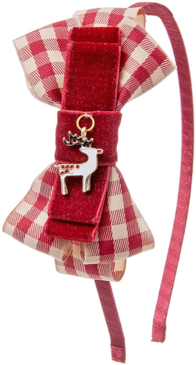 Ободок для волос Malina By Андерсен Рождество, цвет: бордовый. 41601об54 malina by андерсен ободок венок