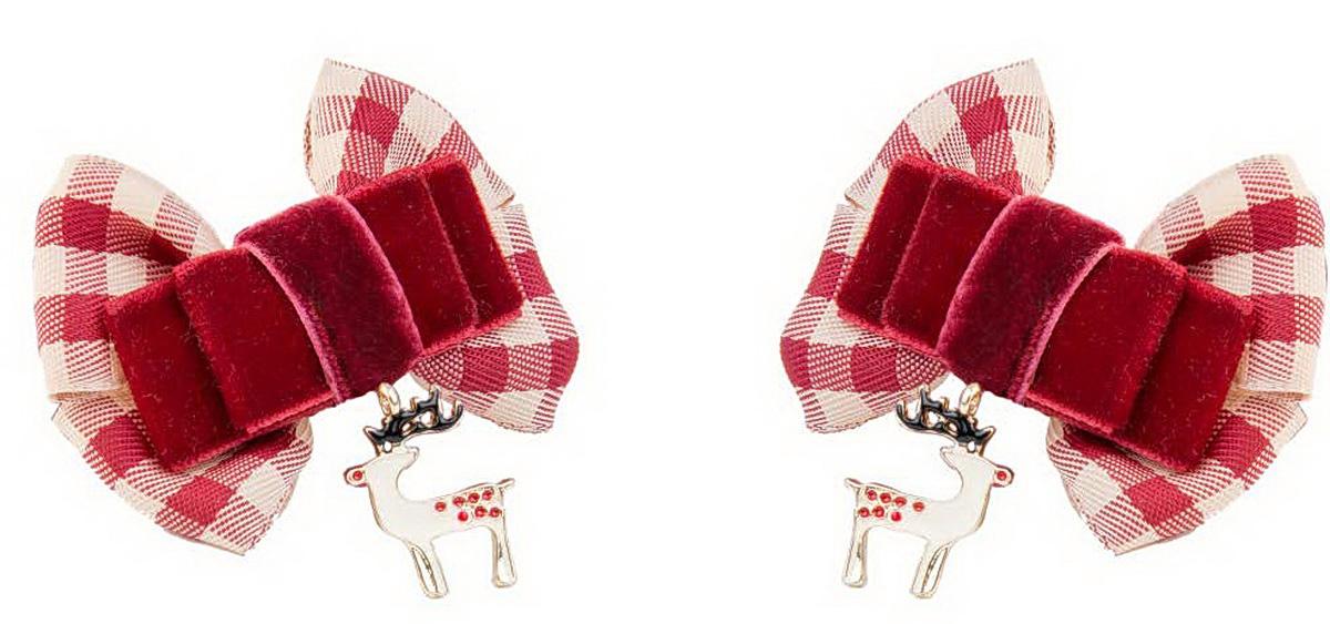 Резинка для волос Malina By Андерсен Рождество, цвет: бордовый, 2 шт. 41601рм5441601рм54