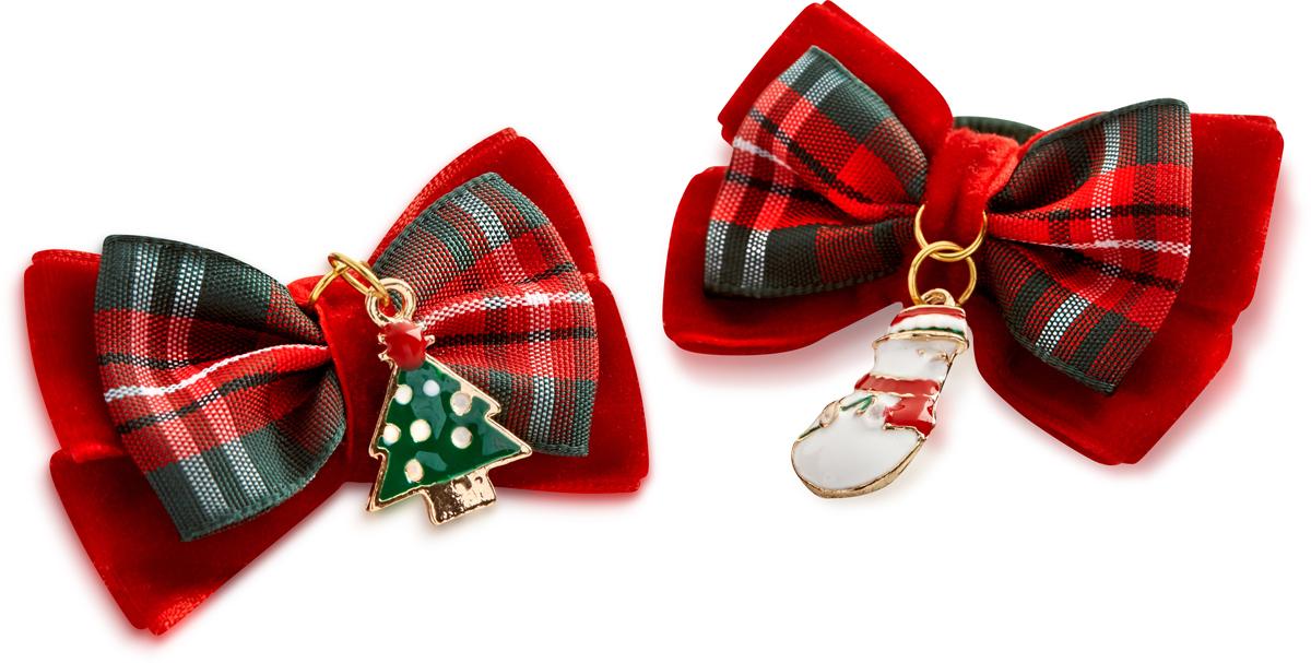 Заколка для волос Malina By Андерсен Новогодние приключения, цвет: красный, 2 шт. 41602тм5341602тм53