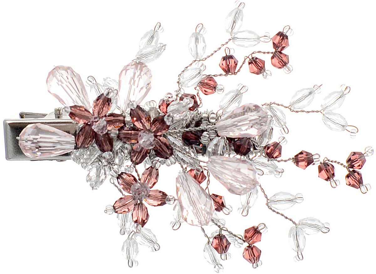 Заколка для волос Malina By Андерсен Эдельвейс, цвет: розовый. 41701тб1041701тб10