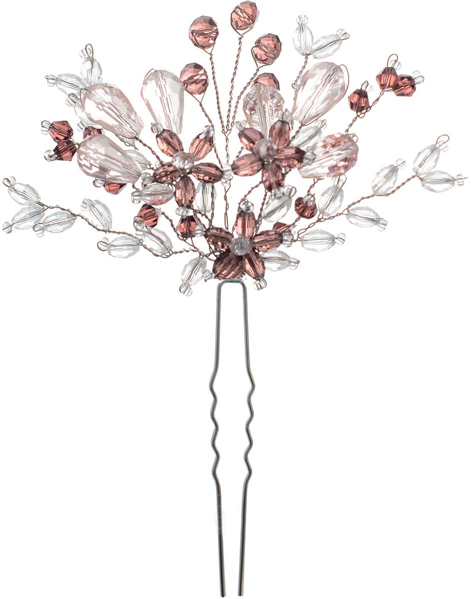 Шпилька для волос Malina By Андерсен Эдельвейс, цвет: розовый. 41701шп1041701шп10