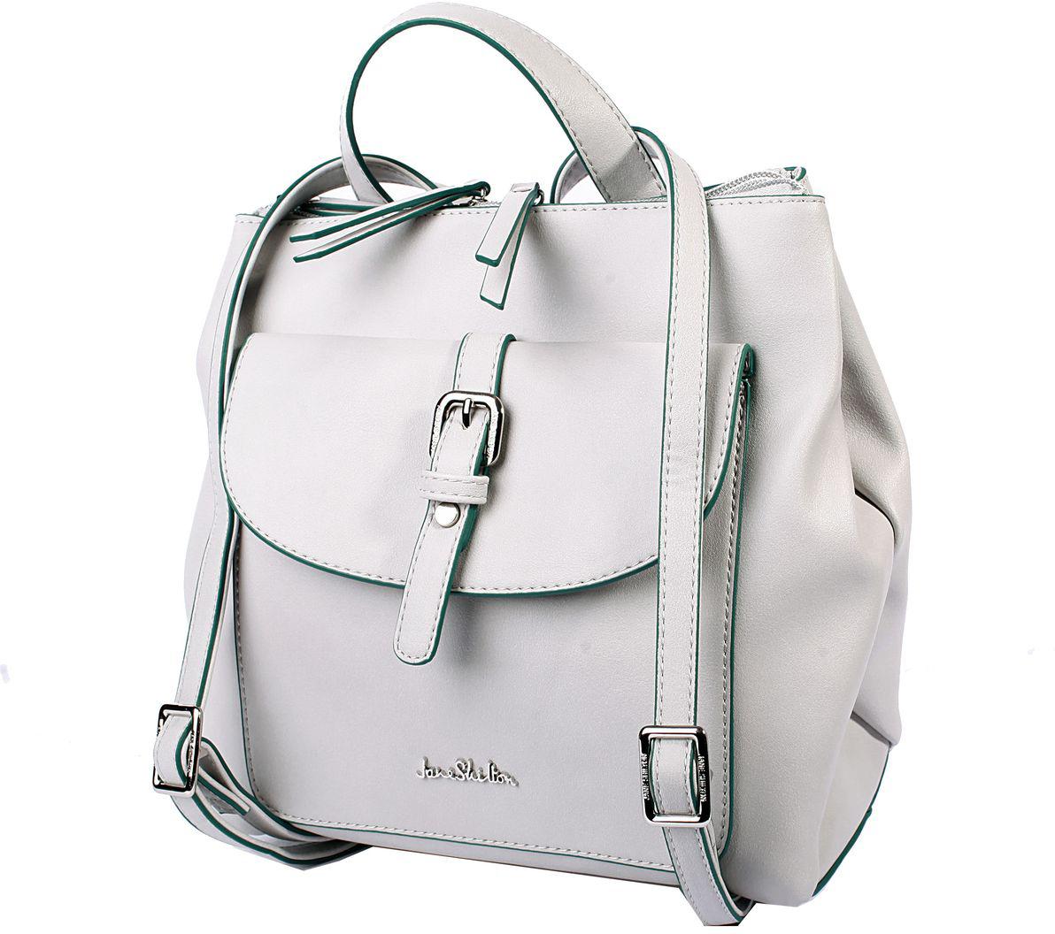 Рюкзак женский Jane Shilton, цвет: серый. H1019 рюкзак jane shilton jane shilton ja001bwwsp63