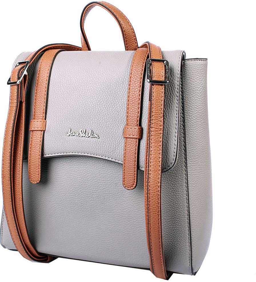 Рюкзак женский Jane Shilton, цвет: серый. H1039 рюкзак jane shilton jane shilton ja001bwwsp63
