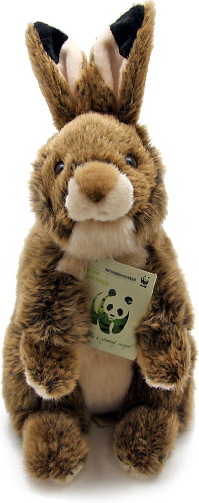 WWF Мягкая игрушка Кролик цвет коричневый 25 см wwf wwf wwf980