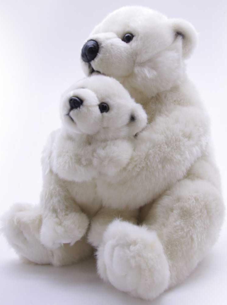 WWF Мягкая игрушка Медведь полярный с ребенком 28 см медведь будоражить boonic медведи плюшевые игрушки куклы несут два больших гостиной 40см