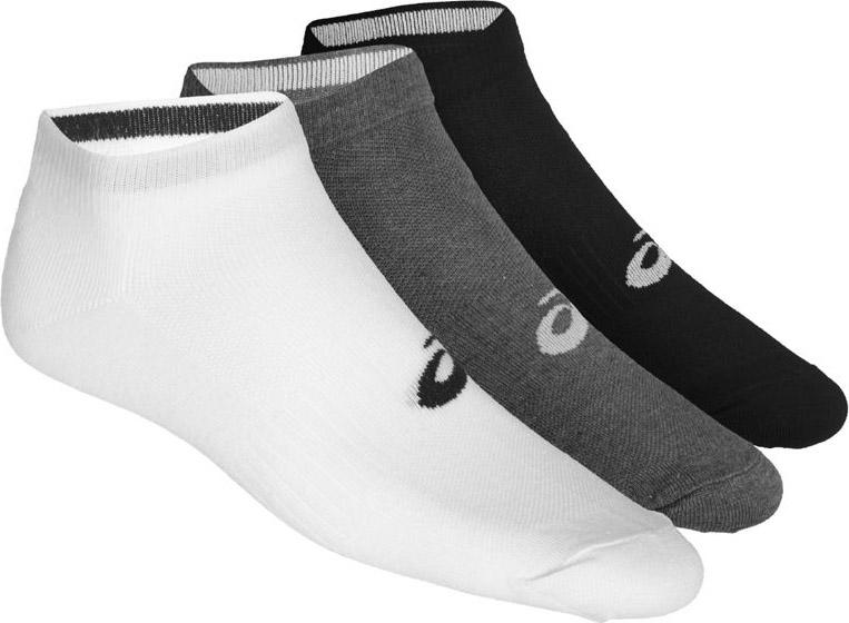 Носки мужские Asics 3PPK Ped, цвет: серый, 3 пары. 155206-0701. Размер 39/42155206-0701Спортивные носки Asics 3PPK Ped с укороченным паголенком изготовлены из высококачественного трикотажа. Удобная резинка не сдавливает и комфортно облегает ногу. Обладают повышенной прочностью, благодаря усиленной пятке и мыску. Воздухопроницаемость и вентиляция за счет тонких сетчатых зон. Плоский шов в зоне большого пальца для предотвращения давления и натирания. Оформлены носки логотипом бренда. В комплект входят три пары носков.