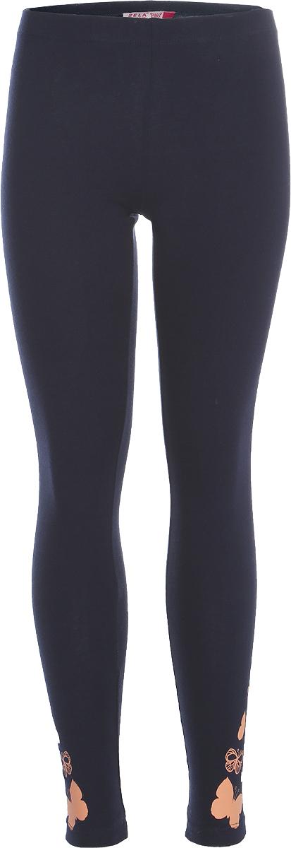 Леггинсы для девочки Sela, цвет: темно-синий. PLG-615/1027-8263. Размер 122, 7 летPLG-615/1027-8263Стильные леггинсы для девочки Sela станут отличным дополнением к гардеробу юной модницы. Леггинсы выполнены из качественного материала. Модель стандартной посадки на талии имеет пояс на мягкой резинке.