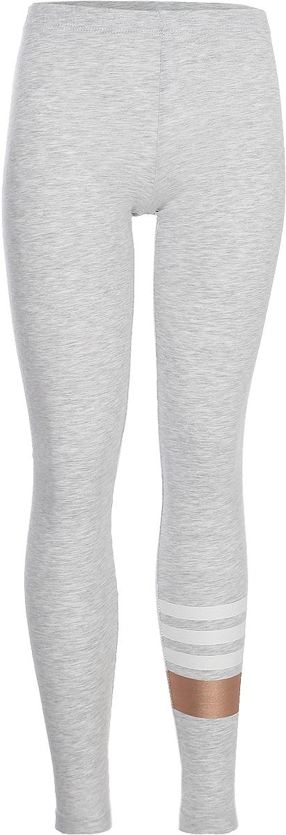 Леггинсы для девочки Sela, цвет: светло-серый меланж. PLG-615/1027-8263. Размер 152, 12 лет цена