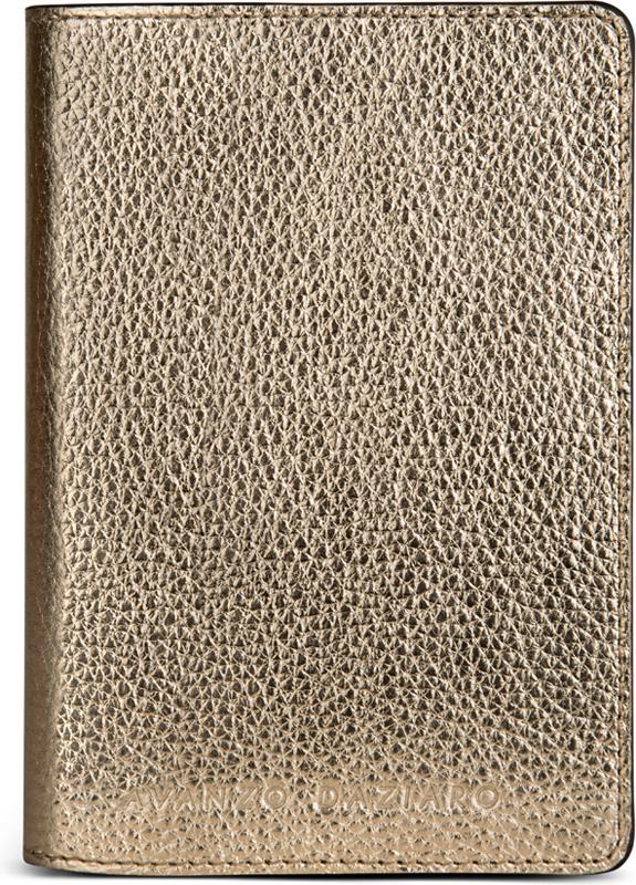 Обложка для паспорта женская Avanzo Daziaro, цвет: золотой. 018-1019G08Натуральная кожаСтильные и качественные обложки на паспорт сохранят ваши документы и настроение в полном порядке.Удачно подобранный аксессуар способен выгодно подчеркнуть вашу индивидуальность. Обложка для паспорта имеет вставки для жесткости.