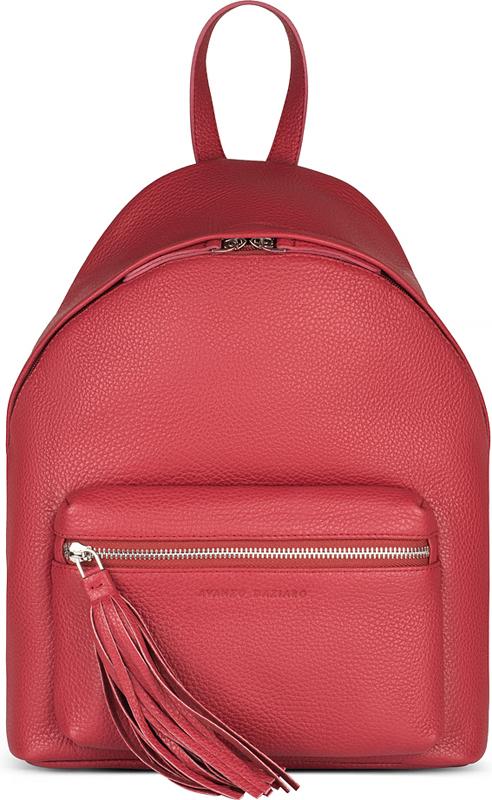 Рюкзак женский Avanzo Daziaro, цвет: красный. 018-103204018-103204Рюкзак с двумя плечевыми регулируемыми по длине ремнями, ручка сверху, основное отделение на молнии с раскрытием в две стороны, внешний объемный карман на молнии с декоративной кистью, внутри 2 кармана для гаджетов и карман на молнии.