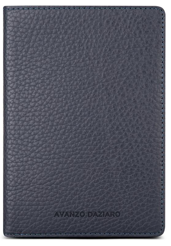Обложка для паспорта мужская Avanzo Daziaro, цвет: синий. 018-191303Натуральная кожаСтильные и качественные обложки на паспорт сохранят ваши документы и настроение в полном порядке.Удачно подобранный аксессуар способен выгодно подчеркнуть вашу индивидуальность. Обложка для паспорта имеет вставки для жесткости.