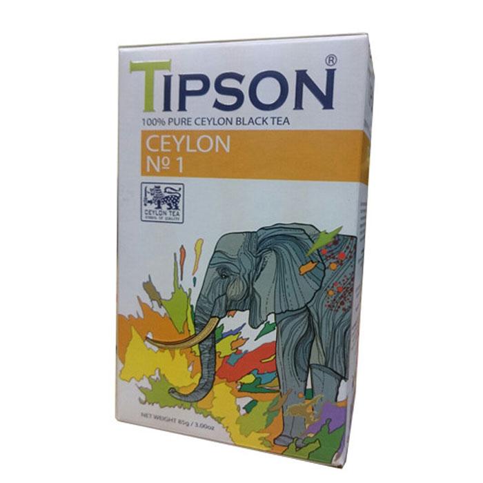 Tipson Ceylon №1 черный листовой чай, 85 г80001-00Чай чёрный цейлонский байховый листовой Tipson Ceylon №1. Чай, произрастающий на острове Цейлон, давно признан лучшим в мире. Эксперты Tipson предлагают вам чай №1, в котором найден гармоничный баланс между силой вкуса и элегантностью аромата.Уважаемые клиенты!Обращаем ваше внимание на возможные изменения в дизайне упаковки. Качественные характеристики товара остаются неизменными. Поставка осуществляется в зависимости от наличия на складе.Всё о чае: сорта, факты, советы по выбору и употреблению. Статья OZON Гид