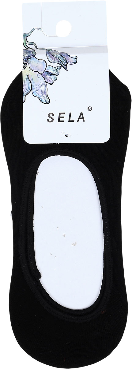 Носки женские Sela, цвет: черный. SOb-154/086-8181. Размер 23/25 носки для мальчика sela цвет серый меланж sob 7854 035 7101 размер 20 22