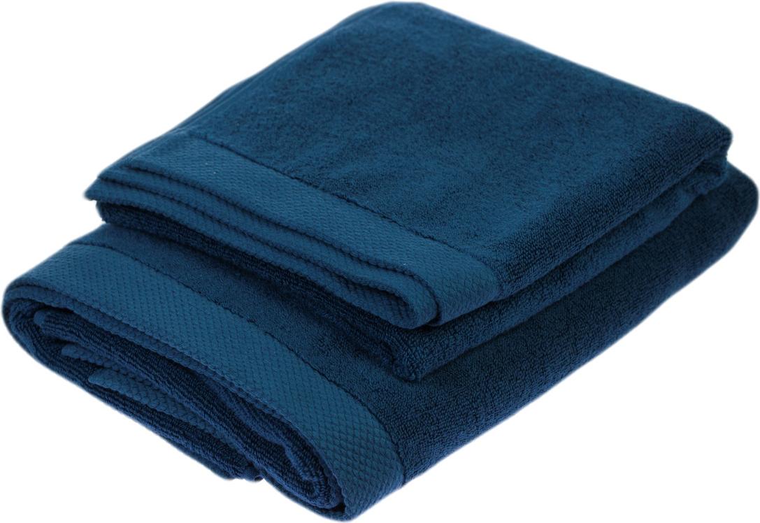 Набор полотенец Peche Monnaie Olympus, цвет: темно-синий, 2 шт17Набор Peche Monnaie Olympus состоит из двух махровых полотенец разного размера, выполненных изнатурального хлопка. Такие полотенца отлично впитывают влагу, быстро сохнут, сохраняютяркость цвета и не теряют формы даже после многократных стирок. Полотенца очень практичныи неприхотливы в уходе.Размер полотенец: 50 х 90 см; 70 х 140 см.