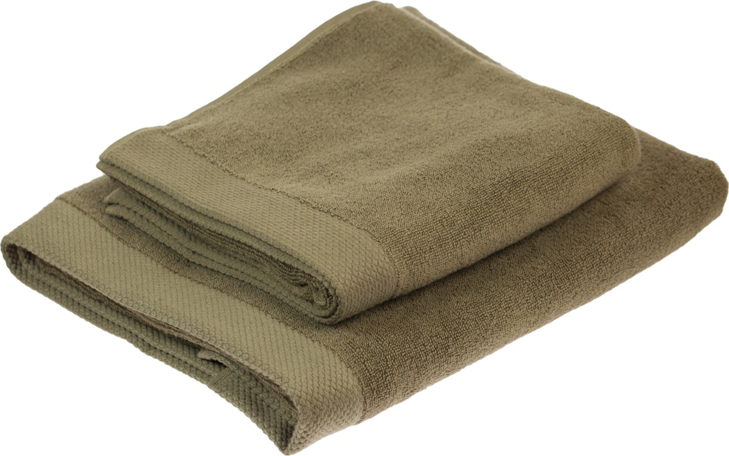 """Набор Peche Monnaie """"Olympus"""" состоит из двух махровых полотенец разного размера, выполненных из натурального хлопка. Такие полотенца отлично впитывают влагу, быстро сохнут, сохраняют яркость цвета и не теряют формы даже после многократных стирок. Полотенца очень практичны и неприхотливы в уходе. Размер полотенец: 50 х 100 см; 70 х 140 см."""