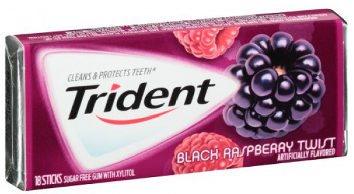 Trident Black Raspberry Twist жевательная резинка, 25,2 г01000023Жевательная резинка со вкусом ежевики и малины.