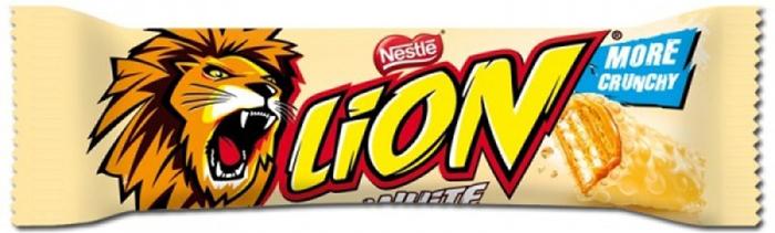 Lion White батончик вафельный, 42 г dr schar wafer pocket вафельный батончик 50 г