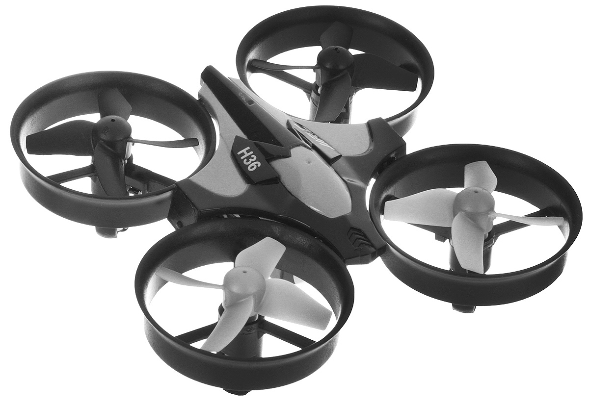 JJRC Квадрокоптер на радиоуправлении H36 без камеры цвет серый