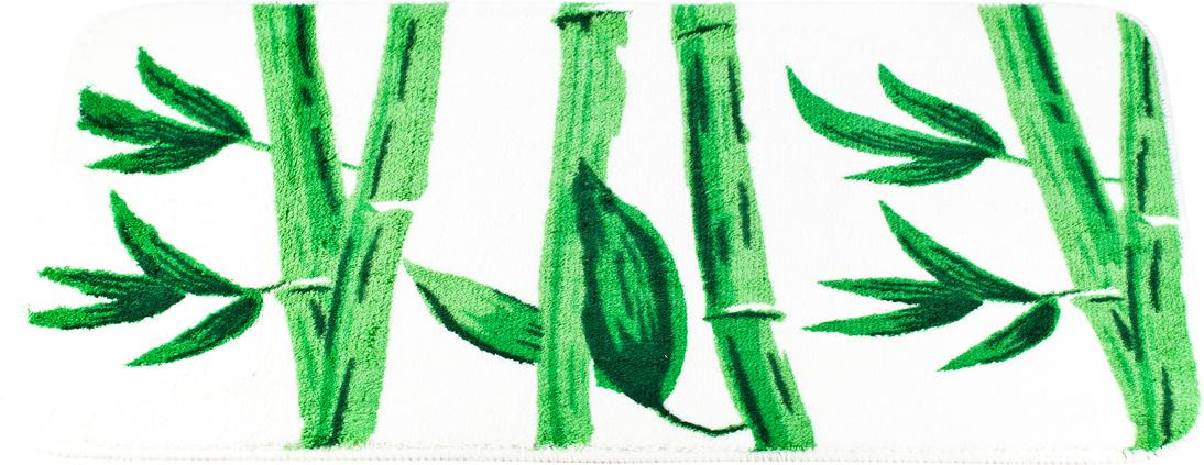 Коврик для ванной Brissen Bamboo, 50 х 80 смBSM-10-0217-BAMBOOПриятно после водных процедур стать босыми ногами не на холодный кафель, а на мягкую пушистую поверхность. А потому коврик – незаменимый атрибут в ванной комнате. Коврик Brissen Bamboo с жизнерадостным рисунком в виде соцветий, выполнен в нейтральной природной цветовой гамме, изготовлен из полипропилена – материала, устойчивого к истиранию, долговечного и не боящегося влаги. Изделие быстро сохнет, допускается машинная стирка. Нескользящая подложка обезопасит владельцев от случайных падений.