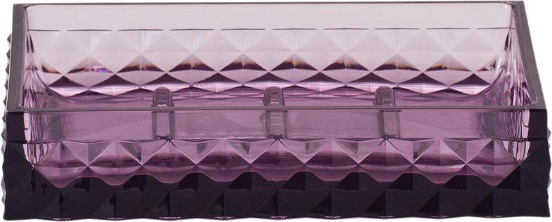 Мыльница Swensa Rapas, цвет: фиолетовый, 12 х 8,5 х 2,5 см