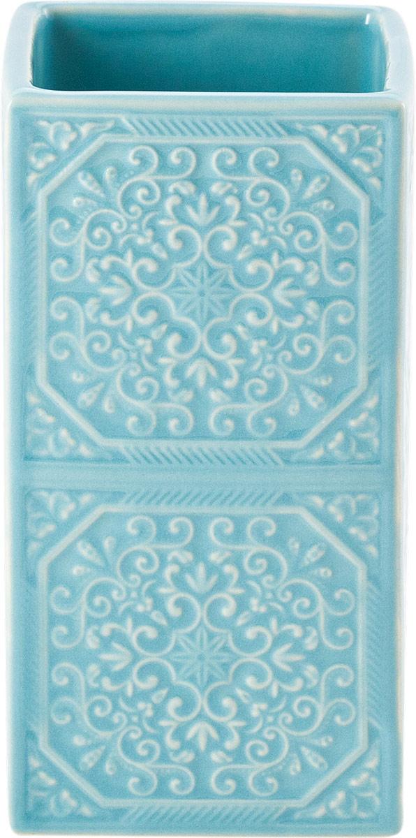 Мыльница Swensa Тифани, цвет: бирюзовыйSWTK-1053DМыльница Тифани – стильное, изысканное решение для ванной комнаты. Выполненное в форме чаши изделие отличается глубокой проработкой мелких деталей.Изделие выполнено из керамики, что гарантирует долговечность и прочность. Мыльница не боится влаги и царапин.